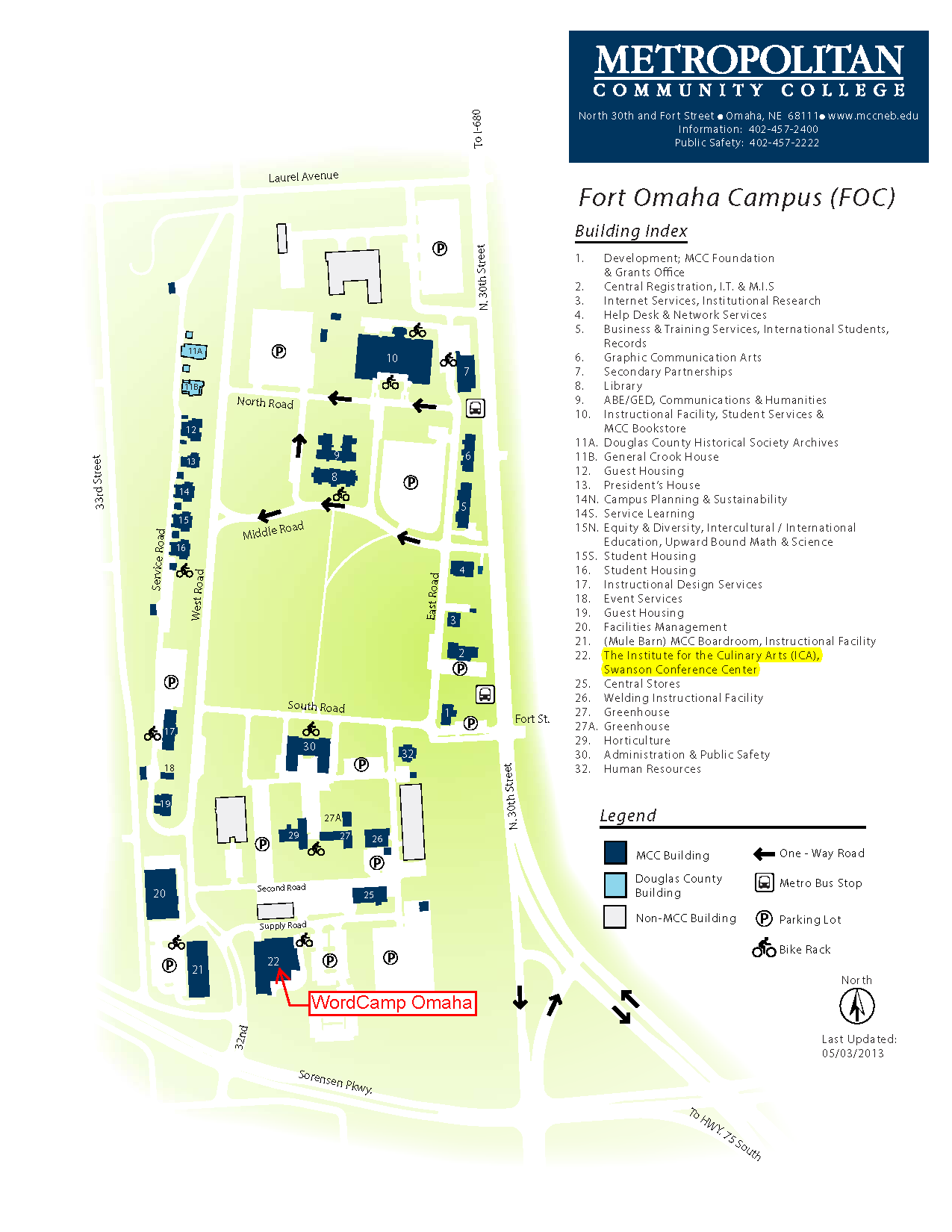 Fort Omaha Campus Map